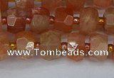 CRB1291 15.5 inches 5*8mm faceted rondelle moonstone beads