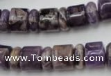 CRB130 15.5 inches 6*12mm & 10*12mm rondelle dogtooth amethyst beads