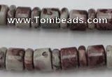 CRB137 15.5 inches 6*12mm & 10*12mm rondelle artistic jasper beads