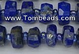 CRB1391 15.5 inches 6*10mm faceted rondelle lapis lazuli beads