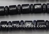 CRB152 15.5 inches 6*12mm & 10*12mm rondelle blue dumortierite beads