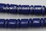CRB153 15.5 inches 6*12mm & 10*12mm rondelle blue stone beads