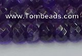 CRB1805 15.5 inches 5*8mm faceted rondelle amethyst beads