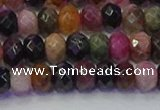 CRB1832 15.5 inches 4*6mm faceted rondelle tourmaline beads