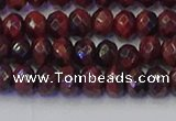CRB1844 15.5 inches 4*6mm faceted rondelle red tiger eye beads