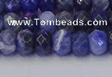 CRB1857 15.5 inches 5*8mm faceted rondelle sodalite beads