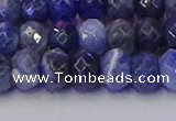 CRB1858 15.5 inches 6*10mm faceted rondelle sodalite beads