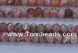 CRB1881 15.5 inches 2*3mm faceted rondelle rhodochrosite beads