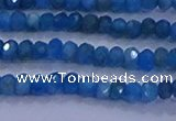 CRB1901 15.5 inches 2.5*4mm faceted rondelle apatite beads