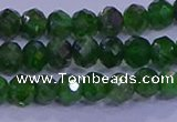 CRB1922 15.5 inches 2.5*4mm faceted rondelle diopside beads