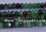 CRB1924 15.5 inches 2*3mm faceted rondelle ruby zoisite beads