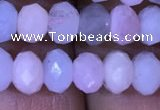 CRB1968 15.5 inches 4*6mm faceted rondelle morganite beads