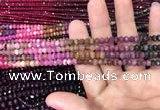 CRB1970 15.5 inches 3.5*5mm faceted rondelle tourmaline beads
