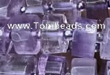 CRB2011 15.5 inches 9mm - 10mm faceted tyre light amethyst beads