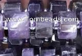 CRB2017 15.5 inches 11mm - 12mm faceted tyre amethyst beads