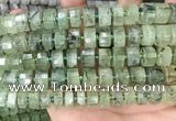 CRB2043 15.5 inches 12mm - 13mm faceted tyre prehnite beads