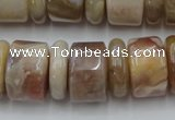 CRB205 15.5 inches 6*18mm – 13*18mm rondelle yellow agate beads