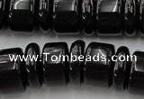 CRB206 15.5 inches 6*18mm � 13*18mm rondelle black agate beads