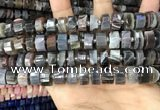 CRB2113 15.5 inches 12mm - 13mm faceted tyre Botswana agate beads
