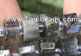 CRB2130 15.5 inches 7mm - 8mm faceted tyre labradorite gemstone beads