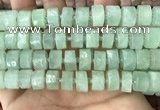 CRB2168 15.5 inches 13mm - 14mm faceted tyre light prehnite beads