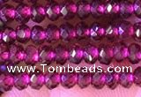 CRB2212 15.5 inches 2*3mm faceted rondelle garnet beads wholesale