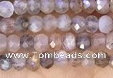 CRB2219 15.5 inches 2*3mm faceted rondelle moonstone beads