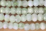 CRB2229 15.5 inches 2*3mm faceted rondelle prehnite beads