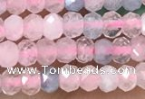 CRB2236 15.5 inches 2*3mm faceted rondelle morganite beads