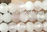 CRB2250 15.5 inches 3*4mm faceted rondelle rose quartz beads