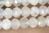 CRB2254 15.5 inches 3*4mm faceted rondelle white moonstone beads