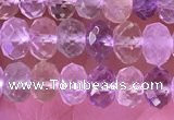 CRB2281 15.5 inches 4*6mm faceted rondelle mixed quartz beads