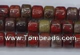 CRB2505 15.5 inches 6*8mm rondelle brecciated jasper beads