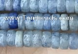 CRB2553 15.5 inches 2*4mm heishi blue aventurine beads wholesale
