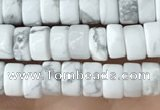 CRB2556 15.5 inches 2*4mm heishe white howlite beads wholesale