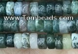 CRB2559 15.5 inches 2*4mm heishi moss agate beads wholesale