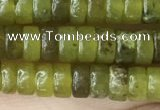 CRB2564 15.5 inches 2*4mm heishi olive jade beads wholesale