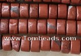 CRB2570 15.5 inches 2*4mm heishe red jasper beads wholesale