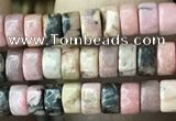 CRB2572 15.5 inches 2*4mm heishe rhodonite beads wholesale