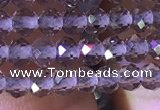 CRB2603 15.5 inches 2*3mm faceted rondelle smoky quartz beads