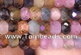 CRB2608 15.5 inches 2*3mm faceted rondelle tourmaline beads