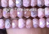 CRB2618 15.5 inches 2.5*4mm faceted rondelle rhodochrosite beads