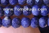 CRB2643 15.5 inches 3*4mm faceted rondelle sapphire beads wholesale