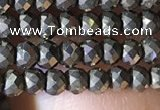CRB2649 15.5 inches 2*3mm faceted rondelle pyrite beads wholesale