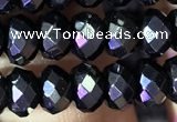 CRB2653 15.5 inches 4*6mm faceted rondelle black spinel beads