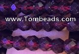 CRB2667 15.5 inches 3*4mm faceted rondelle red garnet beads