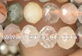 CRB2672 15.5 inches 4*6mm faceted rondelle mixed rutilated quartz beads
