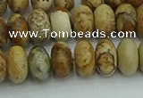 CRB2857 15.5 inches 6*10mm rondelle sesame jasper beads