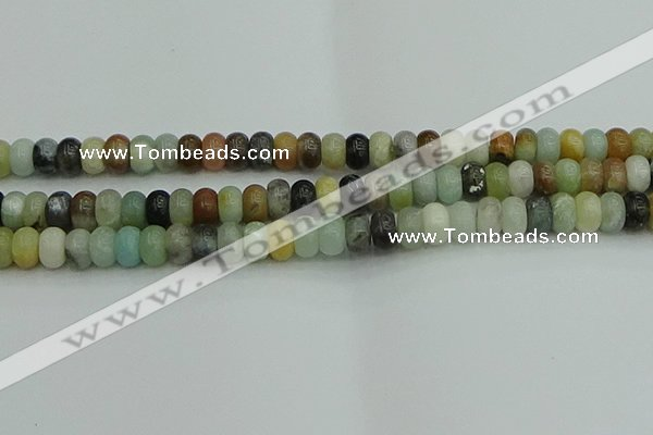 CRB2877 15.5 inches 6*10mm rondelle amazonite beads wholesale