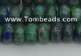 CRB2892 15.5 inches 6*10mm rondelle chrysocolla beads wholesale